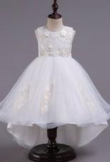 Meisjeskleding Meisjes Feestjurk Camila - wit