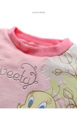 Meisjespyjama's Tweety Meisjes Pyjama - fleece - lichtroze