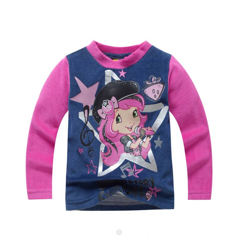 Meisjespyjama's Strawberry Shortcake Meisjes Pyjama - fleece - blauw / roze