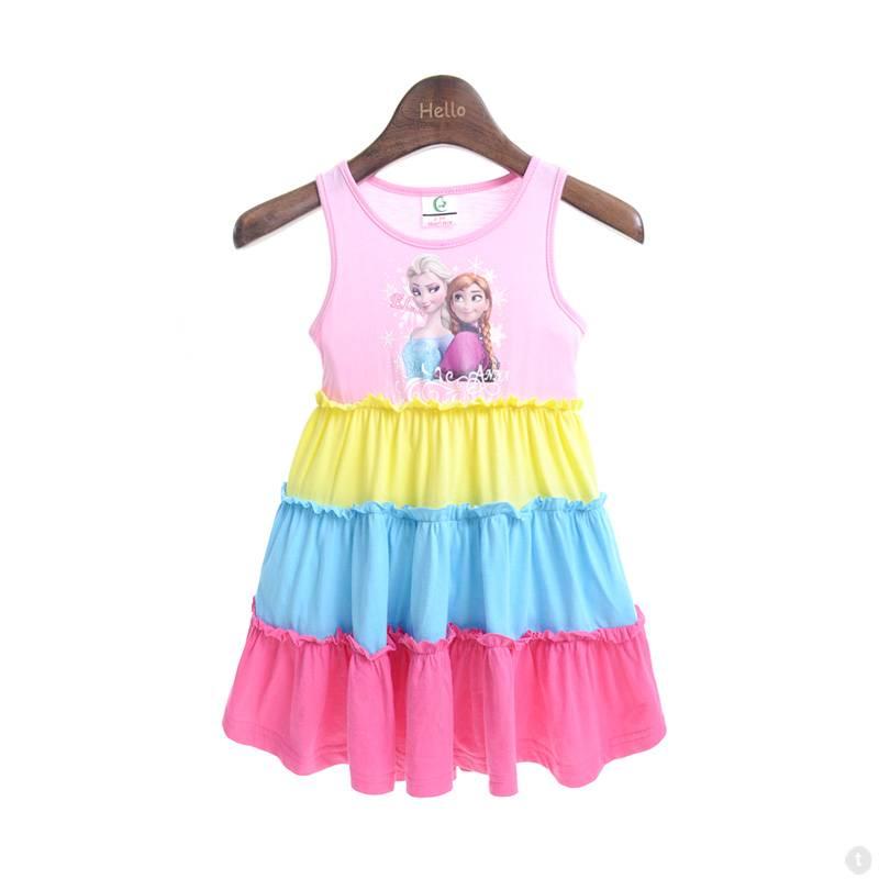 256d701a0cdf60 Kinderkleding - Frozen Meisjes Jurk - roze   geel   blauw - LaraModa.nl