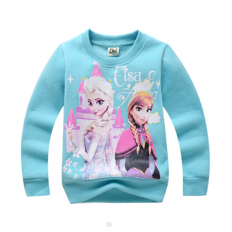 Meisjeskleding Frozen Meisjes Sweater - hemelblauw