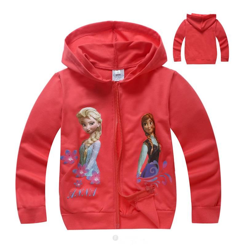 Meisjeskleding Frozen Meisjes Sweatvest 7 - rood