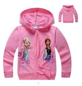 Meisjeskleding Frozen Sweatvest 7 - roze