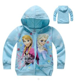 Meisjeskleding Frozen Sweatvest - lichtblauw