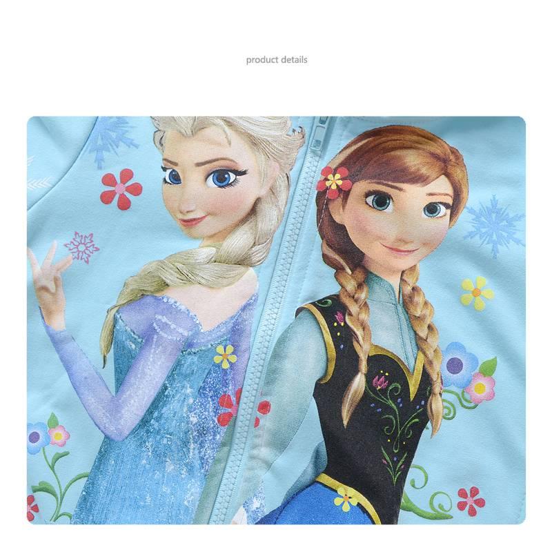 Meisjeskleding Frozen Meisjes Sweatvest 3 - lichtblauw