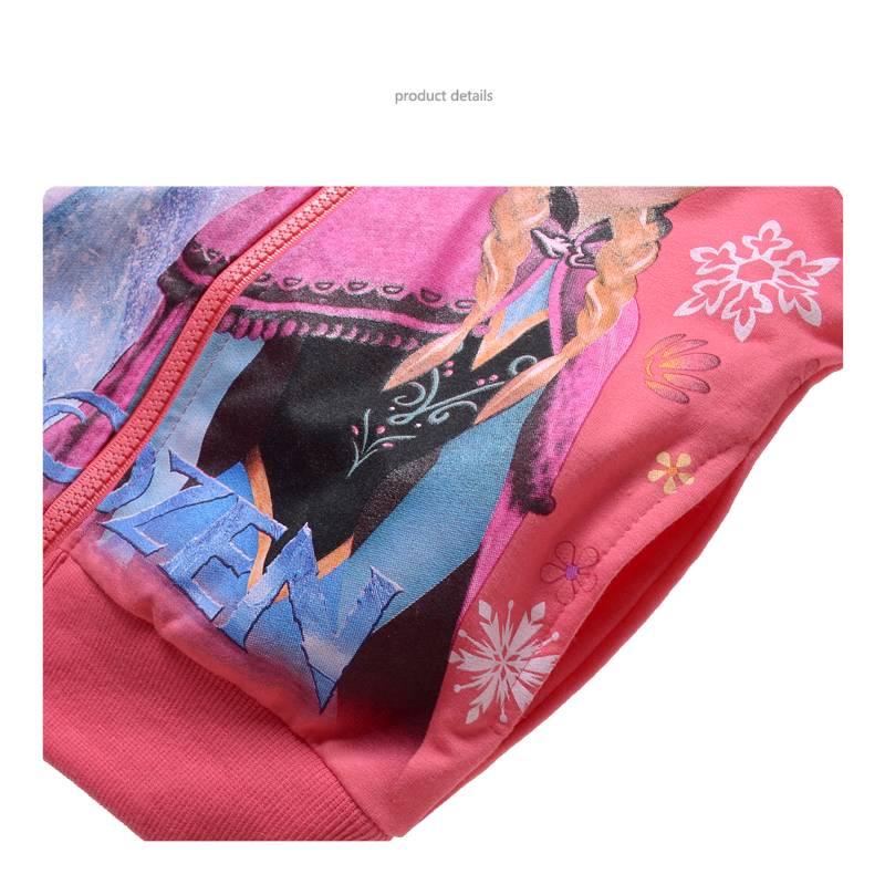 Meisjeskleding Frozen Meisjes Sweatvest 2 - zalm / lichtrood