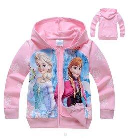 Meisjeskleding Frozen Sweatvest 6 - lichtroze
