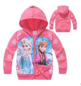 Meisjeskleding Frozen Sweatvest 6 - zalm / lichtrood