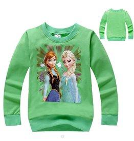Meisjeskleding Frozen Sweater 3 - groen