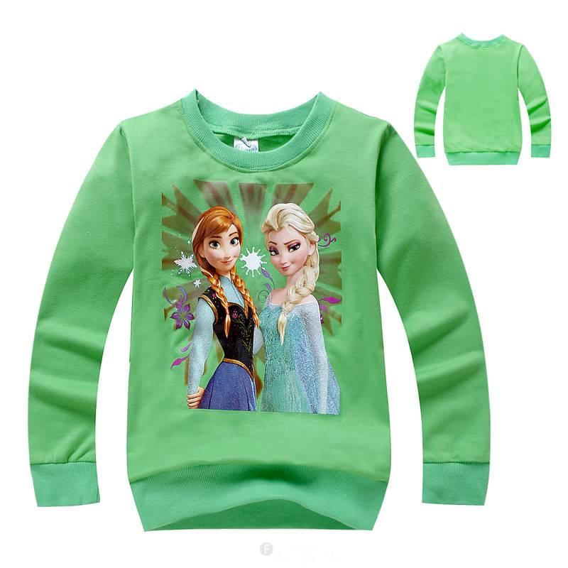 Meisjeskleding Frozen Meisjes Sweater 3 - groen
