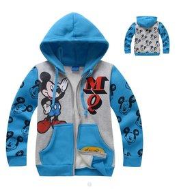 Jongenskleding Mickey Mouse Sweatvest - blauw