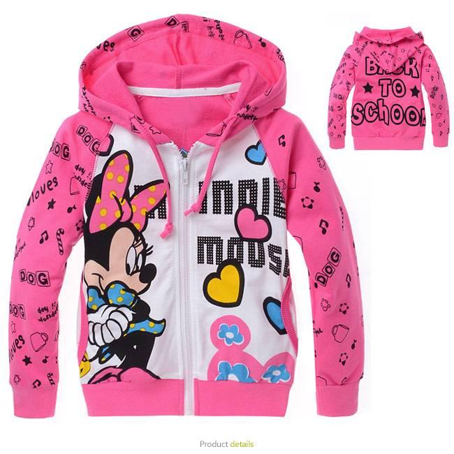 Meisjeskleding Minnie Mouse Meisjes Sweatvest - roze