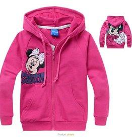 Meisjeskleding Minnie Mouse Sweatvest 4 - roze