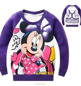 Meisjeskleding Minnie Mouse Sweater - paars