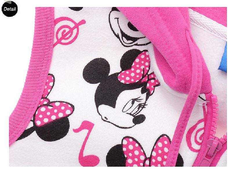 Meisjeskleding Minnie Mouse Meisjes Sweatvest - mouwloos - roze