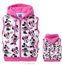 Meisjeskleding Minnie Mouse Sweatvest 2 - mouwloos - roze