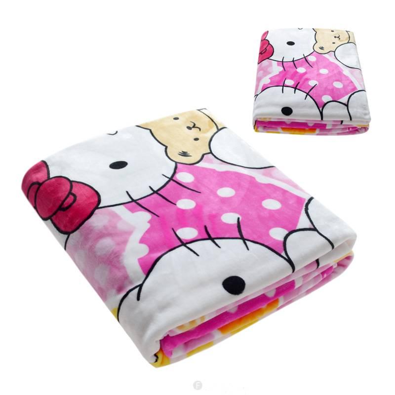 Hello Kitty Fleece Deken.Dekens Voor Kinderen Hello Kitty Fleece Kinderdeken 150x220 Cm Roze