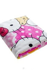 Kinderdekens Hello Kitty Fleece Kinderdeken 150x220 cm - roze