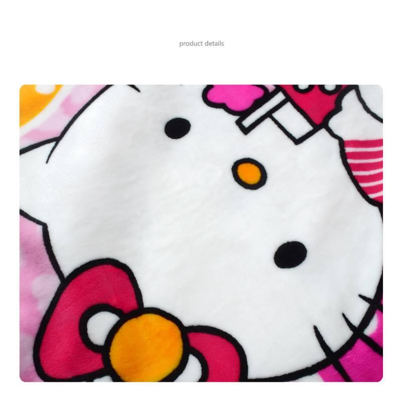 Hello Kitty Fleece Deken.Kinderdekens Hello Kitty Fleece Kinderdeken 150x220 Cm Roze