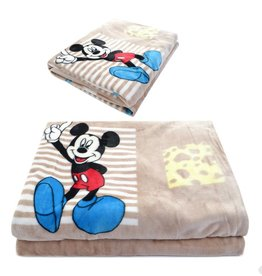 Kinderdekens Mickey Mouse Fleece Kinderdeken 150x220 cm - khaki