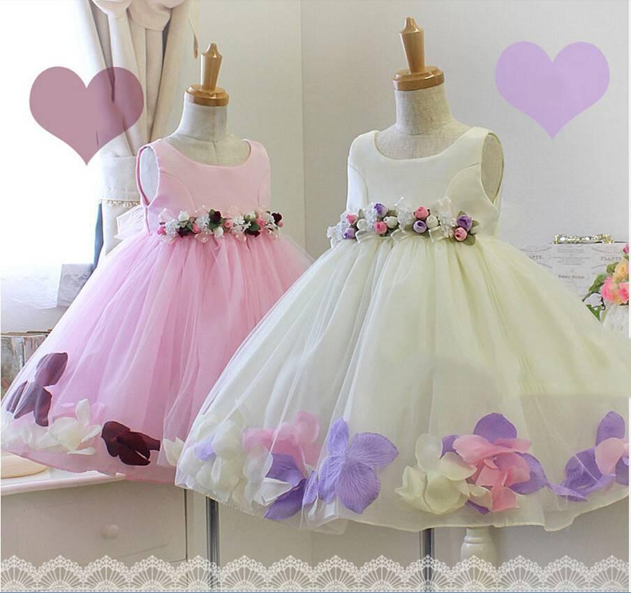 Meisjeskleding Meisjes Feestjurk Karen - roze