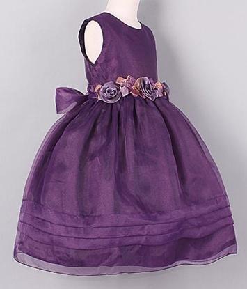 Meisjeskleding Meisjes Feestjurk Isabelle - paars