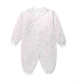 Babykleding Dieren Boxpakje / Romper - wit / rood