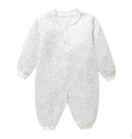 Babykleding Dieren Boxpakje / Romper - wit / bruin