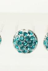 Haardecoratie Accessoires voor meisjes - Haarspeld - HS-01-B - turquoise blauw
