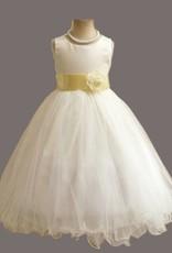 Meisjeskleding Meisjes Feestjurk Betsy - wit / geel