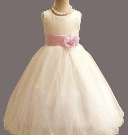 Meisjeskleding Feestjurk Betsy - wit / lichtroze