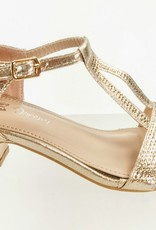 Meisjesschoenen Meisjesschoen - Spaanse schoentjes - open met glitters - goud