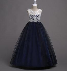 Meisjeskleding Feestjurk Martha - navy blauw