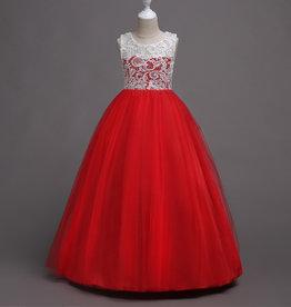 Meisjeskleding Feestjurk Martha - rood