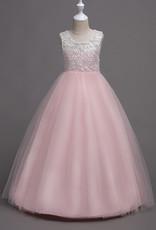 Meisjeskleding Meisjes Feestjurk Martha - roze