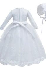 Meisjeskleding Meisjes Doopjurk Magdalena - wit