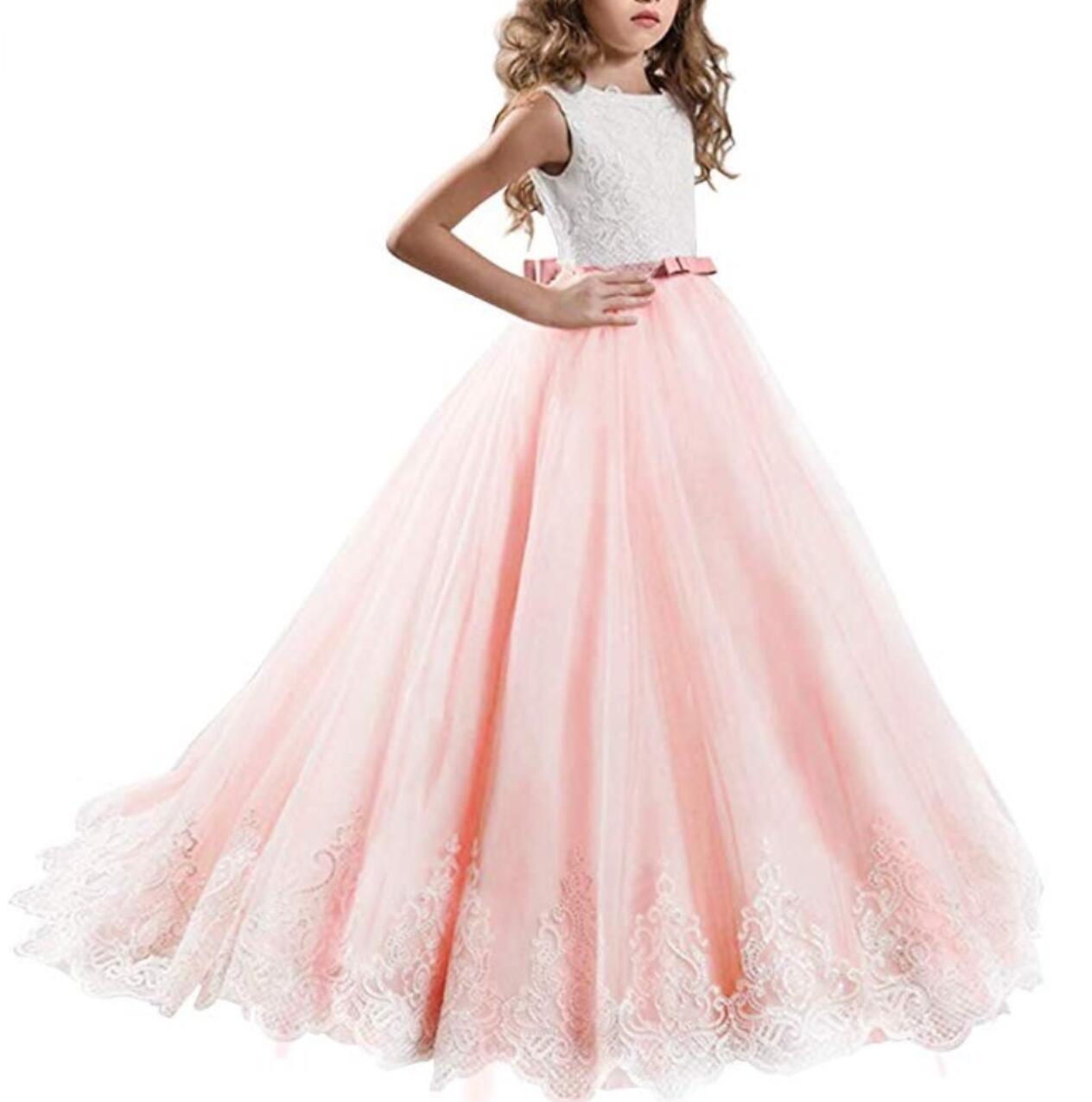 Meisjeskleding Meisjes Feestjurk Yara - roze