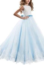 Meisjeskleding Meisjes Feestjurk Yara - blauw