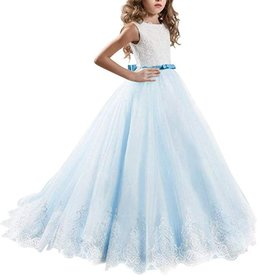 Meisjeskleding Feestjurk Yara - blauw