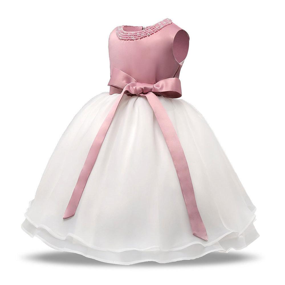 Meisjeskleding Meisjes Feestjurk Christina - roze