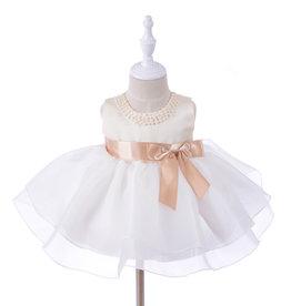 Meisjeskleding Feestjurk Helena - wit / roze