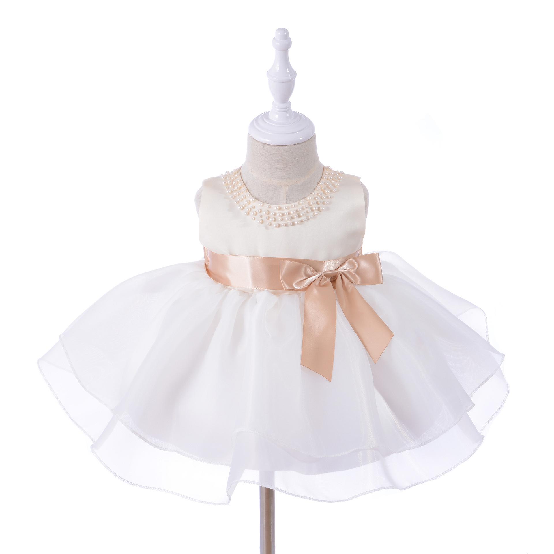 Meisjeskleding Meisjes Feestjurk Helena - wit / roze