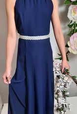 Meisjeskleding Meisjes Feestjurk Maxima - navy blauw
