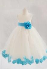 Meisjeskleding Meisjes Feestjurk Saskia - wit / blauw