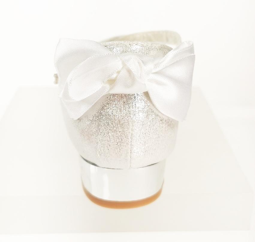 Meisjesschoenen Meisjesschoen - Spaanse schoentjes - strik - glitter - wit