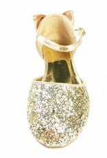 Meisjesschoenen Meisjesschoen - Spaanse schoentjes - strik - glitter - goud