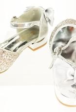Meisjesschoenen Meisjesschoen - Spaanse schoentjes - strik - glitter - zilver