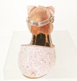 Meisjesschoenen Spaanse schoentjes - strik - glitter - roze