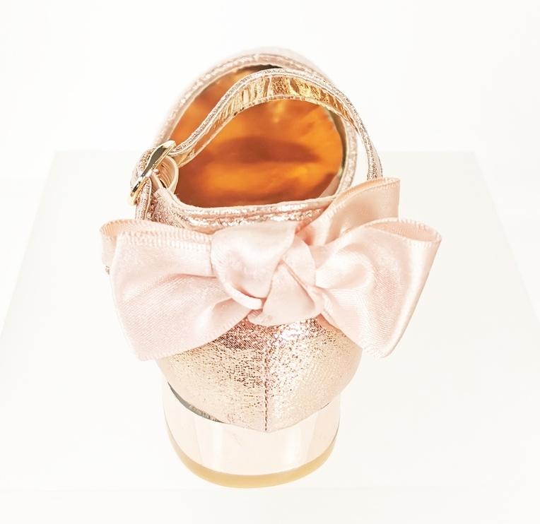 Meisjesschoenen Meisjesschoen - Spaanse schoentjes - strik - glitter - roze