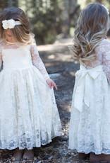 Meisjeskleding Meisjes Feestjurk Noor - gebroken wit